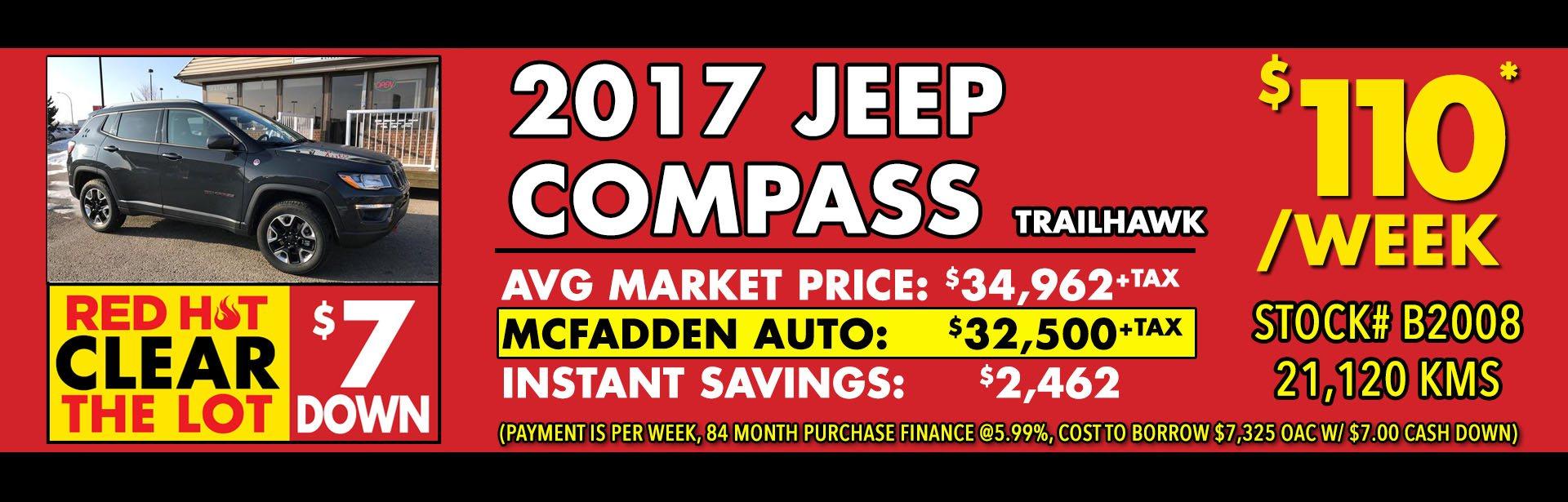 Red Hot - B2008 - 2017 Jeep Compass trailhawk - Feb 2018 - 1