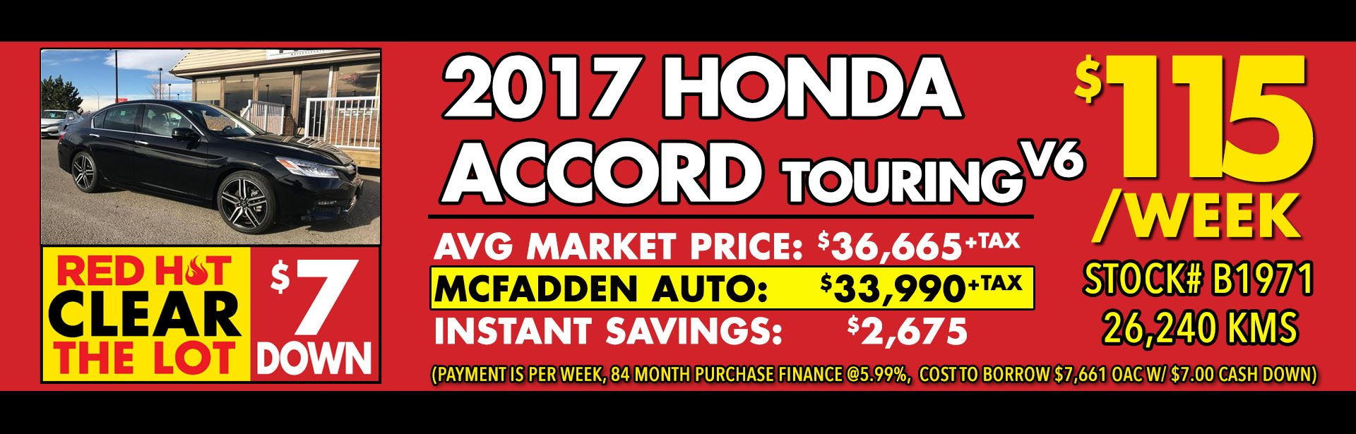 Red Hot - B1971 2017 Honda Accord Touring V6 - Feb 2018