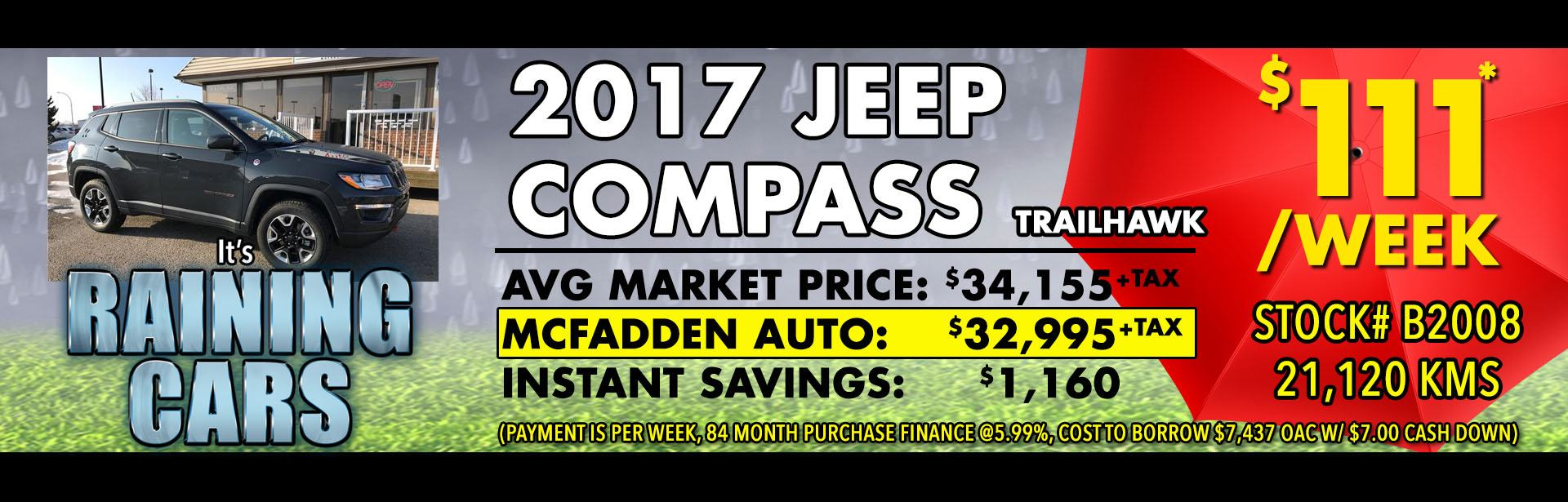 Raining Cars - B2008 - 2017 Jeep Compass trailhawk - APR 2018 - 1