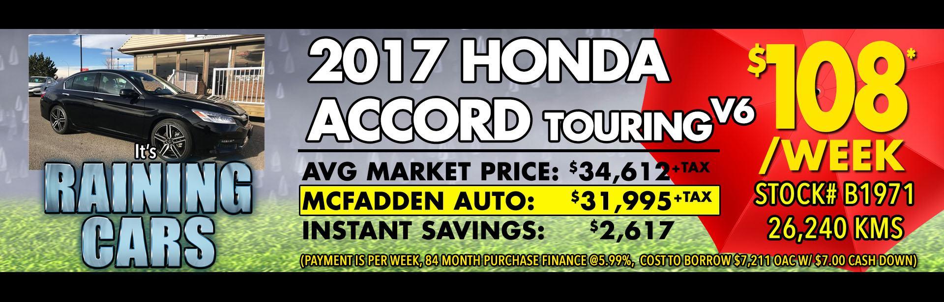 Raining cars - B1971 2017 Honda Accord Touring V6 - APR 2018